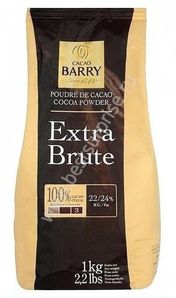 Какао порошок Extra Brute 1кг. Cacao Barry