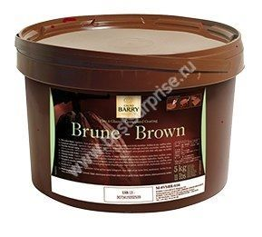 Темная глазурь Brown 5 кг.  Cacao Barry (Франция)