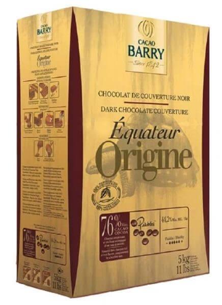 Шоколад кувертюр Origine Equateur 76%, Cacao Barry 1 кг.