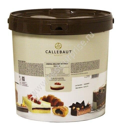 Светлая глазурь Crema Dell`Artigiano Bianca 10 кг. Barry Callebaut (Барри Каллебаут)