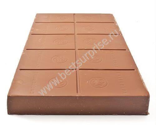 Молочный бельгийский шоколад Barry Callebaut в блоке 5 кг.