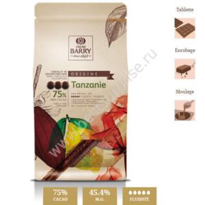 Шоколад кувертюр Origine Tanzanie 75%, Cacao Barry 1 кг.