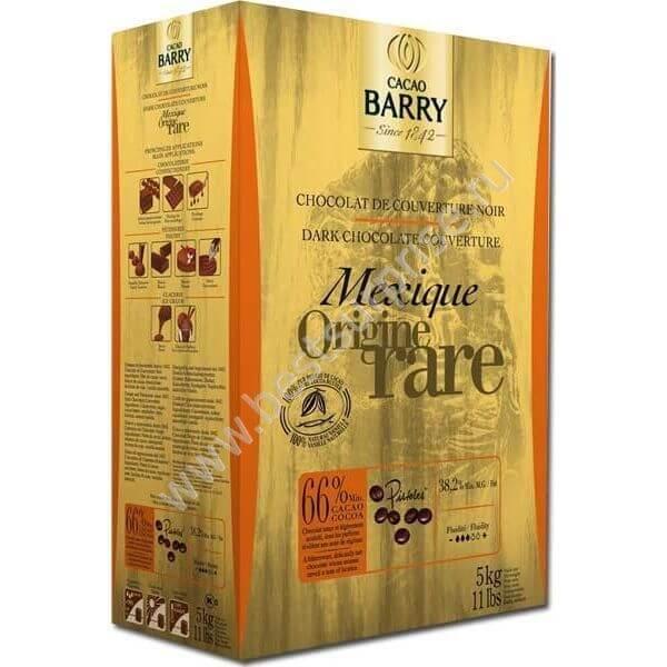 Шоколад кувертюр Origine Mexique (Мексика) 66%, Cacao Barry 1 кг.