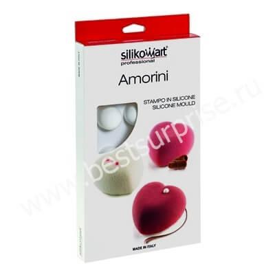 Силиконовая форма Amorini, 8 ячеек (Silikomart / Италия)