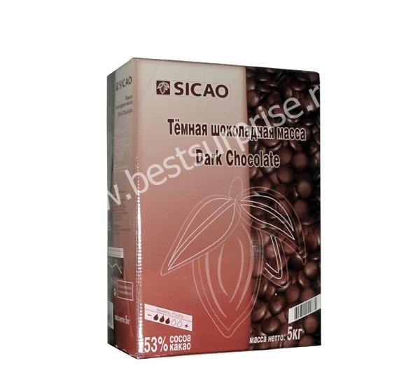 Шоколад темный 53% Sicao (Сикао), 5 кг.