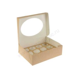Упаковка для капкейков и маффинов (12 ячеек), 1 шт. (330x250x100 мм.)