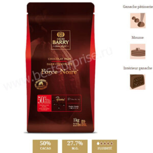 Шоколад Force Noire 50%, Cacao Barry 1 кг.