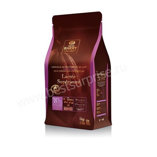 Шоколад (кувертюр) молочный Lactee Superieure 38.2%, Cacao Barry 5 кг.
