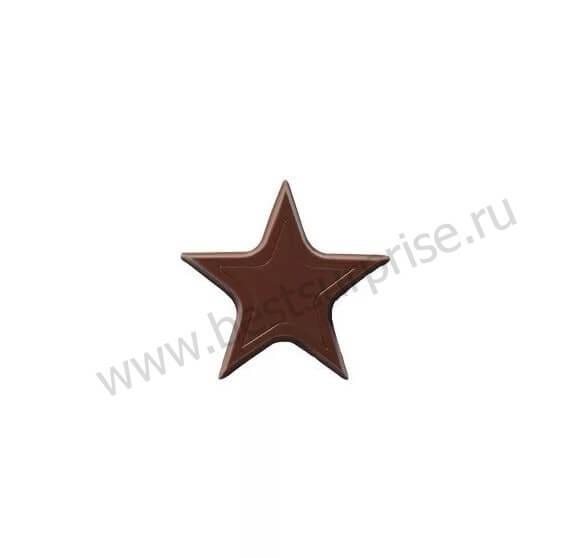 """Декор из темного шоколада """"Звезда"""" Chocolate Stars Dark, 480 гр. Barry Callebaut"""