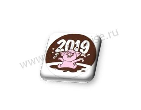 Формы с переводным рисунком для шоколада «Розовый поросенок»