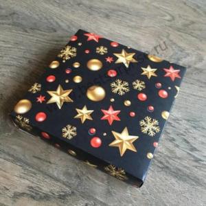 """Упаковка (коробка) для 16 конфет с черной крышкой """"С Новым годом"""", 5 шт."""