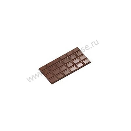 Поликарбонатная форма для шоколадных плиток CW2438, Chocolate World