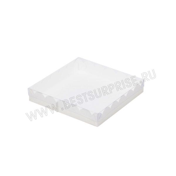 Коробка для печенья и пряников 200*200*35 мм (белая)