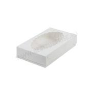 Коробка для эклеров с окошком 240*140*50 мм (белая)