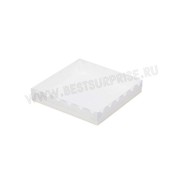 Коробка для печенья и пряников 120*120*30 мм (белая)