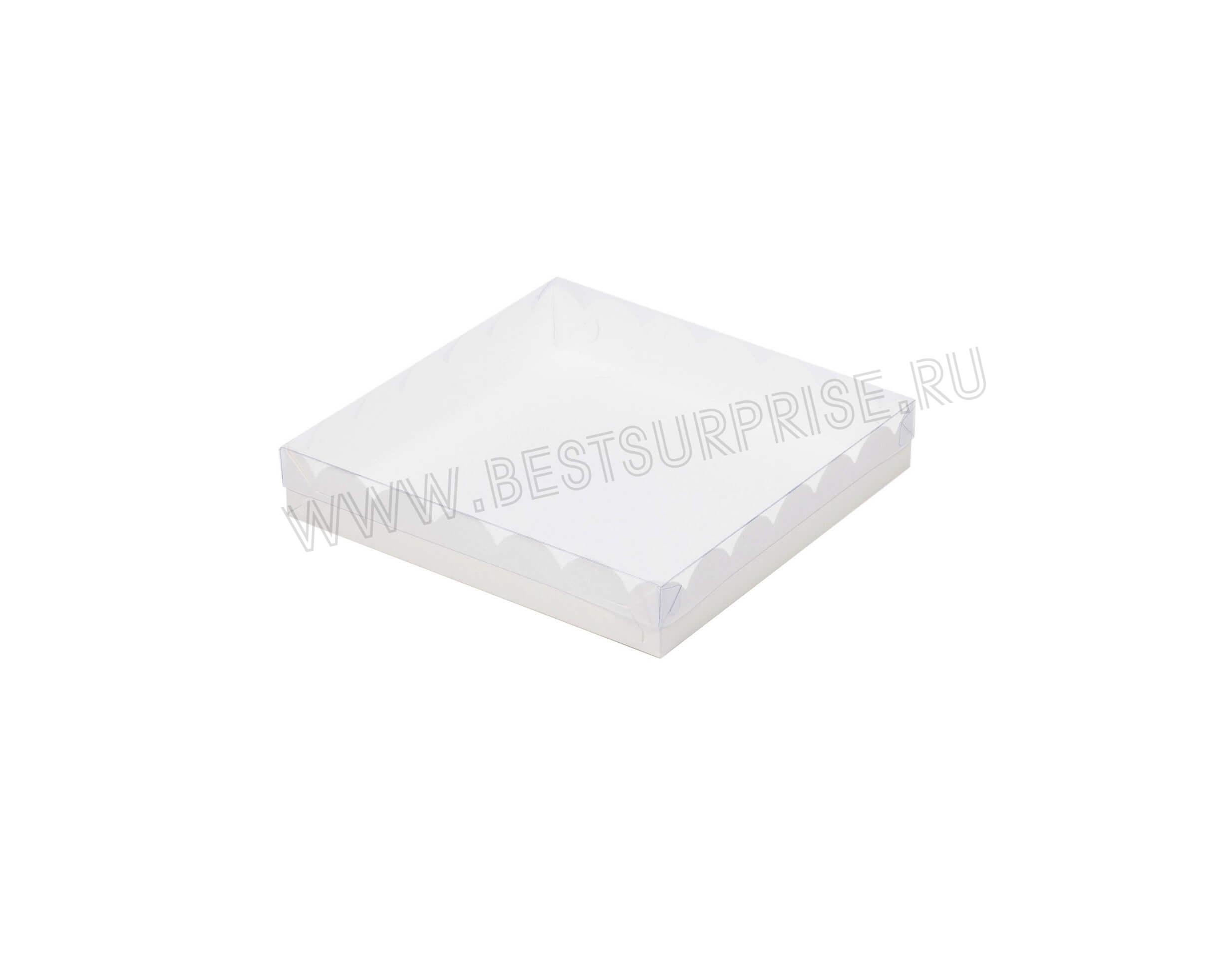 Коробка для печенья и пряников 155*155*35 мм (белая)