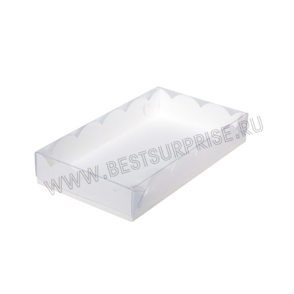 Коробка для печенья и пряников 200*120*35 мм (белая)